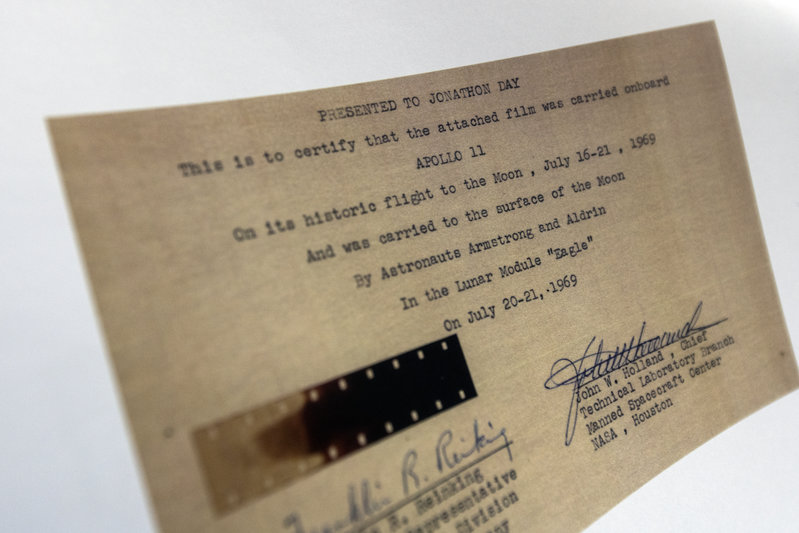 Original film fragment of Apollo 11, used on the Lunar surface