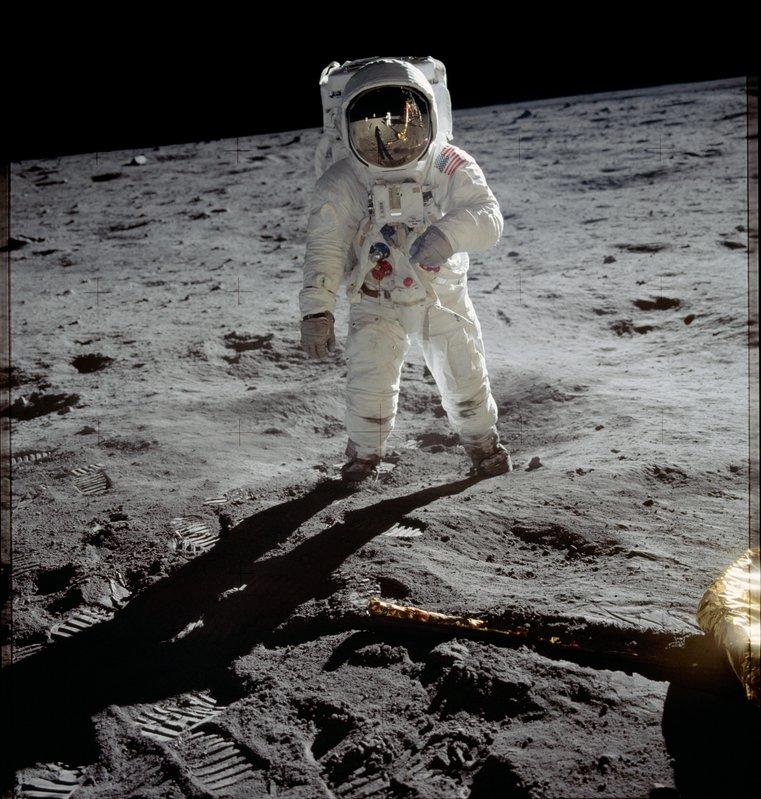 Buzz Aldrin on the moon - Apollo 11